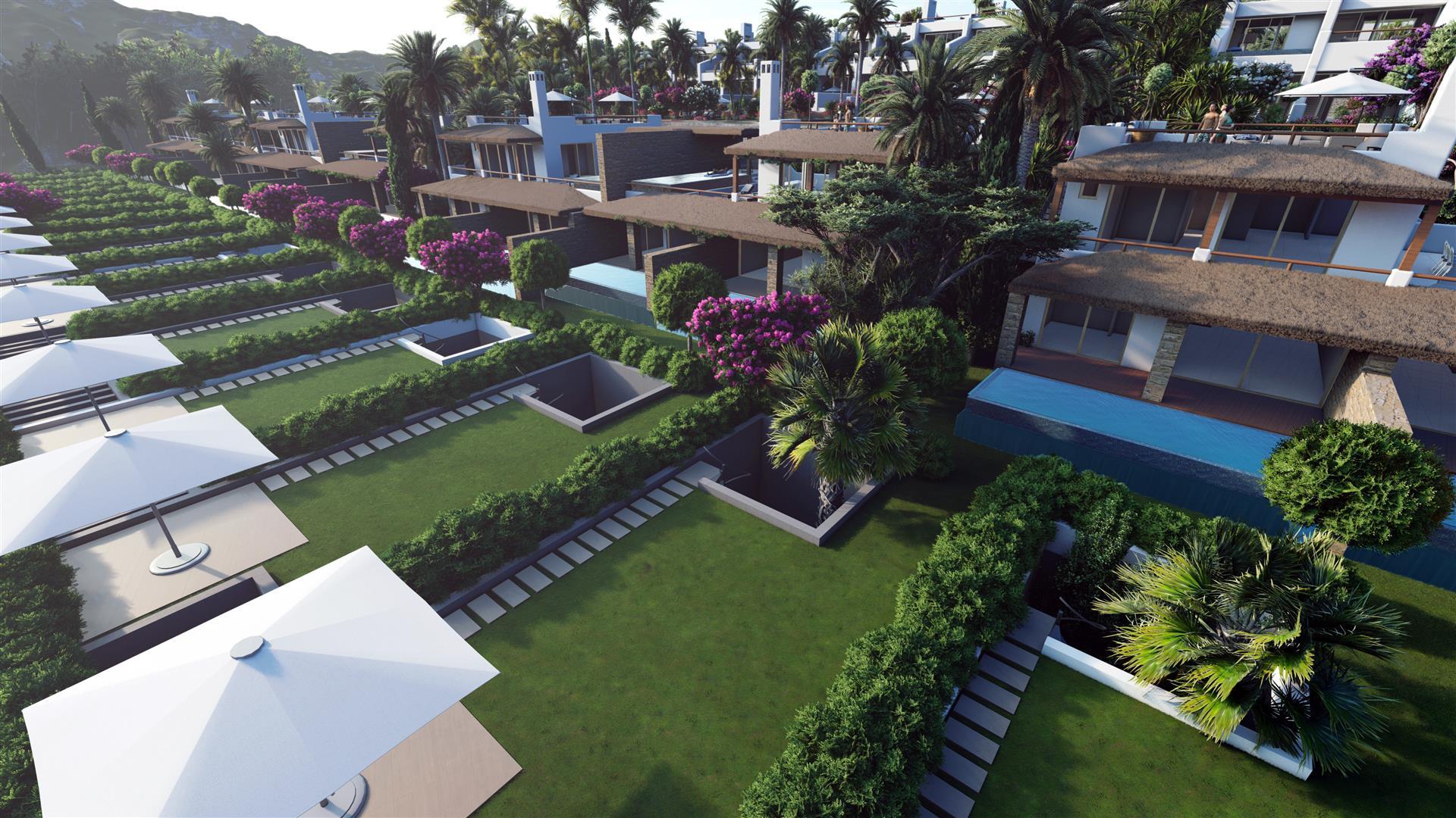 Luxury beach-front resort-style development